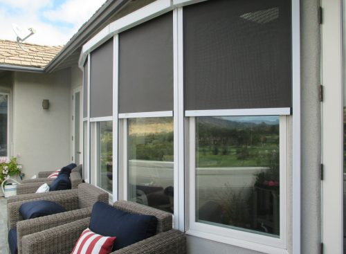 retractable sunscreen blinds